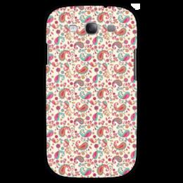 """Чехол для Samsung Galaxy S3 """"Пейсли (Яркий)"""" - цветок, цветы, лепесток, пейсли, узор"""