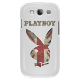 """Чехол для Samsung Galaxy S3 """"Playboy Британский флаг"""" - playboy, плейбой, зайчик, великобритания, плэйбой"""