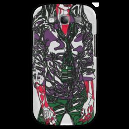 """Чехол для Samsung Galaxy S3 """"Шейный платок"""" - девушка, фигура, галстук, фиолетовый, рубашка"""