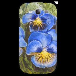"""Чехол для Samsung Galaxy S3 """""""" Анютины глазки """""""" - цветы, рисунок, анютины глазки"""