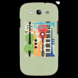 """Чехол для Samsung Galaxy S3 """"Музыкальные инструменты"""" - музыка, гитара, скрипка, инструменты, саксафон"""