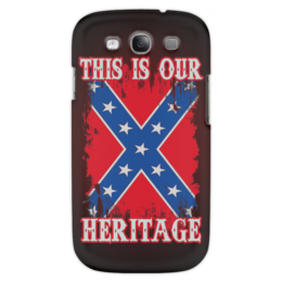 "Чехол для Samsung Galaxy S3 ""Флаг Конфедерации США"" - война, америка, флаг, сша, флаг конфедерации"