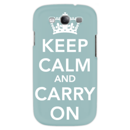 "Чехол для Samsung Galaxy S3 ""keep calm and carry on"" - keep calm, плакат, uk, сохраняйте спокойствие, motivational poste, motivational poster"