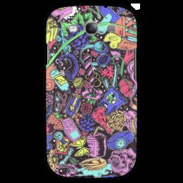 """Чехол для Samsung Galaxy S3 """"Мысли"""" - разное, графика, девушке, цветное, парню, весёлое, collage, colors"""