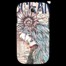 """Чехол для Samsung Galaxy S3 """"OCEAN"""" - девушка, лицо, море, рисунок, ракушка, богиня, морская"""