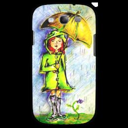 """Чехол для Samsung Galaxy S3 """"Дождик, дождик, уходи!"""" - дети, детское, ручная работа, детский рисунок, детская работа"""