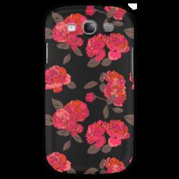 "Чехол для Samsung Galaxy S3 ""Ночной розарий"" - роза, цветок, подарок, девушке"