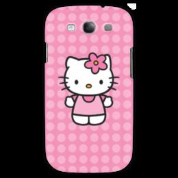 "Чехол для Samsung Galaxy S3 ""Kitty в горошек"" - мультик, hello kitty, мультфильм, для детей, привет китти"