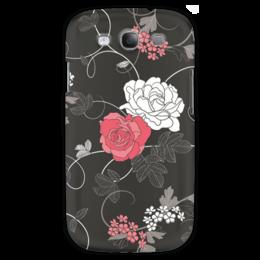 """Чехол для Samsung Galaxy S3 """"Красная и белая розы"""" - цветы, белое, красное, розы"""