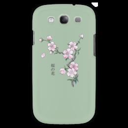 """Чехол для Samsung Galaxy S3 """"Японская сакура"""" - цветы, вишня, япония, иероглифы, сакура"""