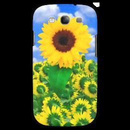 "Чехол для Samsung Galaxy S3 ""Подсолнух"" - лето, цветок, небо, облака, подсолнух"