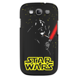 """Чехол для Samsung Galaxy S3 """"Darth Vader smokes!!!"""" - star wars, дарт вейдер, звёздные войны, darth veder, лазерный меч"""
