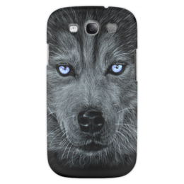 "Чехол для Samsung Galaxy S3 ""Хаски"" - арт, стиль, dog, husky, eyes, blue"