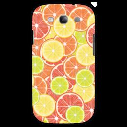 """Чехол для Samsung Galaxy S3 """"Цитрусы"""" - апельсин, лайм, лимон, грейпфрут, дольки"""