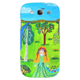 """Чехол для Samsung Galaxy S3 """"Мир волшебства"""" - ручная работа, детский рисунок, от детей, детская работа"""