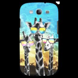 "Чехол для Samsung Galaxy S3 ""Жирафы"" - лето, очки, яркий, жираф"