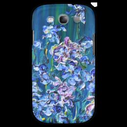 "Чехол для Samsung Galaxy S3 ""Ирисы"" - красиво, девушке, цветочки, iris, blue, flowers"