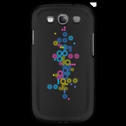 """Чехол для Samsung Galaxy S3 """"Психоделика 2"""" - пузырьки, цвет, абстракция, чёрный фон"""