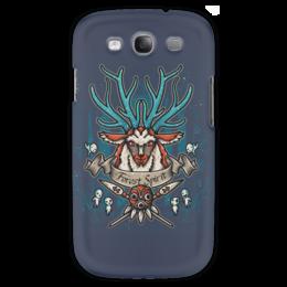 """Чехол для Samsung Galaxy S3 """"Forest Spirit. Лесной Дух"""" - рисунок, олень, фэнтэзи, лесной дух"""