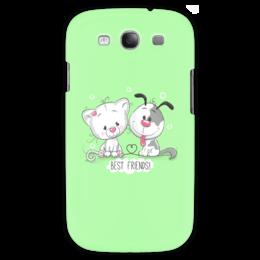 """Чехол для Samsung Galaxy S3 """"Друзья"""" - мультяшки, друзья, рисунок, щенок, котёнок"""