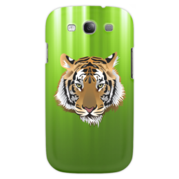"Чехол для Samsung Galaxy S3 ""Взгляд тигра"" - рисунок, взгляд, тигр, джунгли"