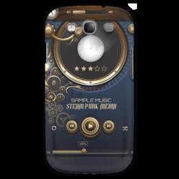 """Чехол для Samsung Galaxy S3 """"Стимпанк-музыка"""" - музыка, плеер, стимпанк, кнопки, пластинка"""