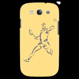 """Чехол для Samsung Galaxy S3 """"Большой теннис"""" - спорт, спортсмен, ракетка, мяч"""