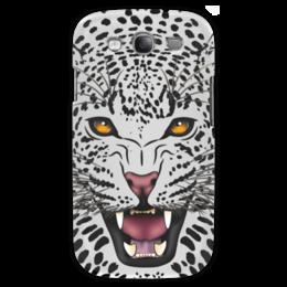 """Чехол для Samsung Galaxy S3 """"Леопард"""" - животные, рисунок, коты, леопард, хищники"""