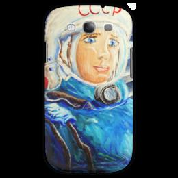 """Чехол для Samsung Galaxy S3 """"Космос СССР"""" - ручная работа, детский рисунок, от детей, детская работа"""