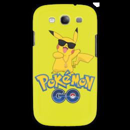 "Чехол для Samsung Galaxy S3 ""Pokemon GO"" - игра, покемон, пикачу, доллар, pikachu"