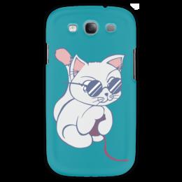 "Чехол для Samsung Galaxy S3 ""Котенок с клубком"" - кот, кошка, котенок, очки, клубок"