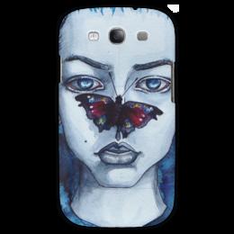 "Чехол для Samsung Galaxy S3 ""butterfly"" - арт, бабочка, стиль, синий, eyes, blue, arishap"