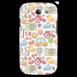 "Чехол для Samsung Galaxy S3 ""All stuff"" - рисунок, коллаж, cars"