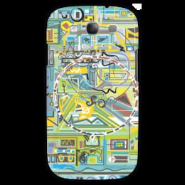 "Чехол для Samsung Galaxy S3 ""Березка"" - арт, абстракция, фигуры, бирюзовый"