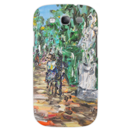 "Чехол для Samsung Galaxy S3 ""Летний сад"" - красиво, питер, парк, двое, статуи"