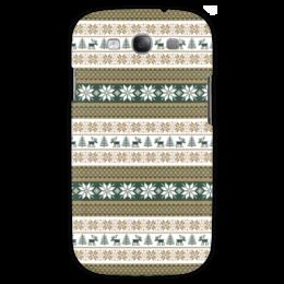 "Чехол для Samsung Galaxy S3 ""Скандинавский узор"" - узор, зима, орнамент, олень, снежинка"