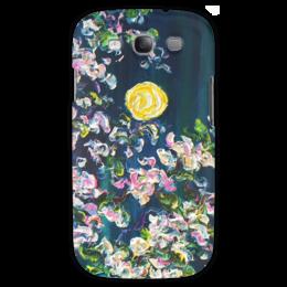 """Чехол для Samsung Galaxy S3 """"Луна и яблоня"""" - весна, небо, цвет, spring"""