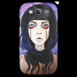 """Чехол для Samsung Galaxy S3 """"Tired"""" - страх, ужас, мрак, жуть, усталость"""