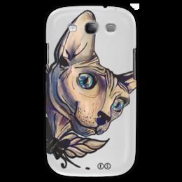 "Чехол для Samsung Galaxy S3 ""Mr. Cox S3"" - кот, бабочка, кокс, сфинкс, tm kiseleva, mr cox"