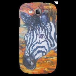 """Чехол для Samsung Galaxy S3 """"Зебра"""" - арт, животные, зебра, в подарок, zebra, оригинально, animals"""