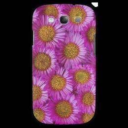 "Чехол для Samsung Galaxy S3 ""Астры"" - цветы, желтый, розовый, лепесток, астры"