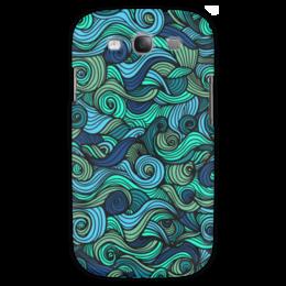 """Чехол для Samsung Galaxy S3 """"Волнистый"""" - арт, узор, волна, орнамент, абстракция"""