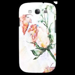 """Чехол для Samsung Galaxy S3 """"Сонет"""" - роза, нежность, акварель, розы, бутон"""