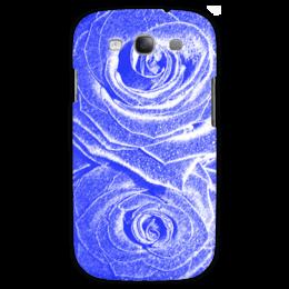 """Чехол для Samsung Galaxy S3 """"Синяя роза """" - цветы, розы, синяя роза"""