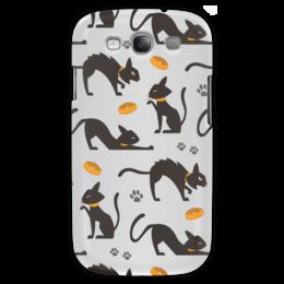 """Чехол для Samsung Galaxy S3 """"Чёрные кошки"""" - кот, кошка, животные, коты, котёнок"""