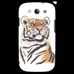 """Чехол для Samsung Galaxy S3 """"Взгляд тигра"""" - хищник, животные, взгляд, тигр, зверь"""