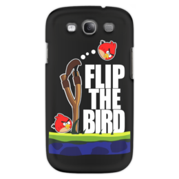 "Чехол для Samsung Galaxy S3 ""Flip The Bird"" - angry birds, злые птицы, flip the bird"