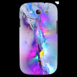 """Чехол для Samsung Galaxy S3 """"Северное сияние"""" - краски, горы, сияние, северное сияние, вспышки"""