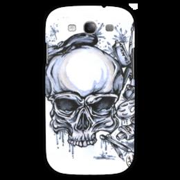 """Чехол для Samsung Galaxy S3 """"череп художник"""" - череп, арт, стиль, рисунок, художник"""