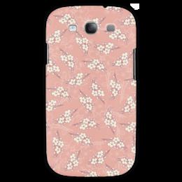 """Чехол для Samsung Galaxy S3 """"Цветочный принт"""" - цветы, розовый, вишня, ветка, фон"""